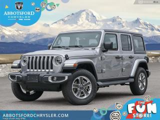 New 2021 Jeep Wrangler Sahara Unlimited  -  Android Auto - $325 B/W for sale in Abbotsford, BC