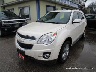 Used 2012 Chevrolet Equinox LOADED 2-LT EDITION 5 PASSENGER 2.4L - ECO-TEC.. ECO-BOOST-PACKAGE.. LEATHER.. HEATED SEATS.. BACK-UP CAMERA.. POWER SUNROOF.. BLUETOOTH SYSTEM.. for sale in Bradford, ON