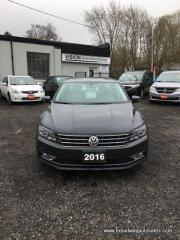 Used 2016 Volkswagen Passat LOADED TSI-SE MODEL 5 PASSENGER 1.8L - DIESEL.. LEATHER.. HEATED SEATS.. NAVIGATION.. BACK-UP CAMERA.. POWER SUNROOF.. BLUETOOTH SYSTEM.. for sale in Bradford, ON