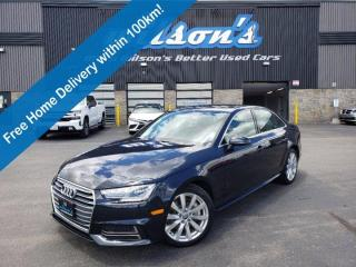 Used 2018 Audi A4 Sedan Komfort Quattro, Leather, Sunroof, Heated Seats, Bluetooth, Rear Camera, Alloy Wheels and more! for sale in Guelph, ON