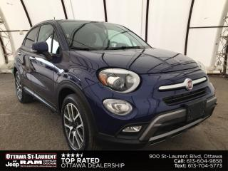 Used 2016 Fiat 500 X Trekking Plus NAVIGATION, FACTORY REMOTE STARTER, BLIND SPOT AND CROSS PATH DETECTION for sale in Ottawa, ON