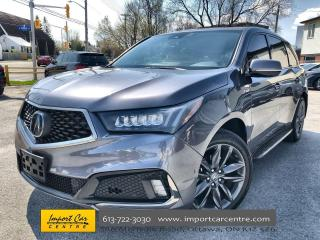 Used 2019 Acura MDX A-Spec LEATHER  ROOF  NAVI  BLIS  HTD SEATS for sale in Ottawa, ON