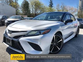 Used 2018 Toyota Camry XSE LEATHER CLOTH  ROOF  BLIS  HTD SEATS  BACKUP C for sale in Ottawa, ON