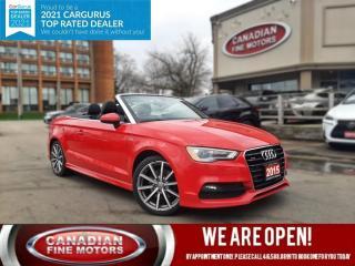 Used 2015 Audi A3 CARBRIOLET TECHNIK+ SLINE PKG | NAVI | CAM | SUPER CONDITION for sale in Scarborough, ON