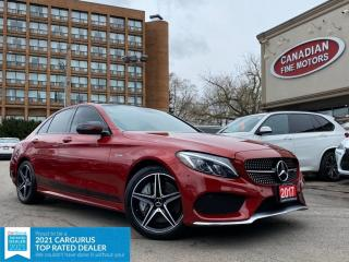 Used 2017 Mercedes-Benz C-Class AMG C43 | PREM + NIGHT PKG | DESIGNO RED |4 NEW SNOW TIRES* for sale in Scarborough, ON