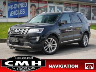 Used 2016 Ford Explorer Limited  NAV CAM LEATH HTD-SEATS ROOF 20-AL for sale in St. Catharines, ON