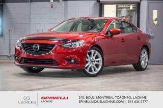 Used 2015 Mazda MAZDA6 GT TECH; CUIR TOIT GPS CAMERA AUDIO MAGS NAVIGATION - AUDIO PREMIUM BOSE À 11 HAUT-PARLEURS - MONITEUR ANGLE MORT - PRÉ-COLLISION - MAGS 19'' for sale in Lachine, QC