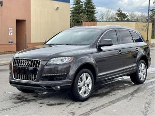 Used 2013 Audi Q7 3.0T Quatro Leather/Panoramic Sunroof/Camera/7 Pas for sale in North York, ON