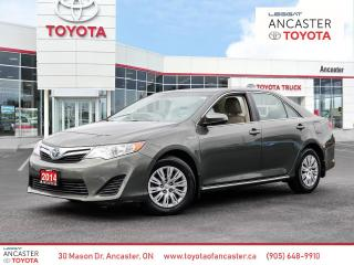 Used 2014 Toyota Camry HYBRID LE HYBRID | CARFAX CLEAN | ONE OWNER | LOW KMS for sale in Ancaster, ON