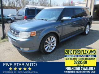 Used 2010 Ford Flex Limited *Clean Carfax* Certified + 6 Month Wrnty for sale in Brantford, ON