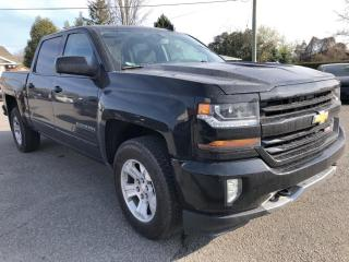 Used 2018 Chevrolet Silverado 1500 2LT Z71 5.3L Crew with Heated Seats, AutoStart, BackupCam, Bluetooth, Pwr Seat, Alloy Wheels, Dual Zone for sale in Kemptville, ON