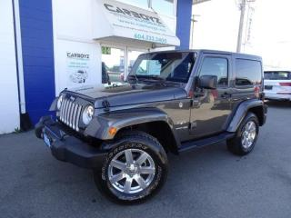 Used 2018 Jeep Wrangler Sahara 4x4,2 Door, Auto, Nav, Heated Leather Seats for sale in Langley, BC