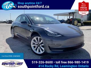 Used 2020 Tesla Model 3 Standard Range MODEL 3|NAV|LEATHER|HTD SEATS|SKYROOF for sale in Leamington, ON