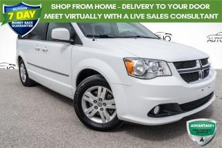Used 2017 Dodge Grand Caravan Crew LEATHER!! POWER LEFT DOOR AND LIFTGATE!!! for sale in Barrie, ON