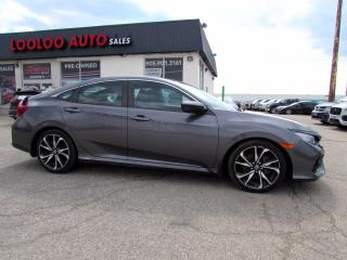 Used 2017 Honda Civic Si Sedan 6 Speed Manual Turbo Navi Camera Certified for sale in Milton, ON
