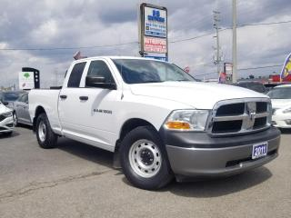 Used 2011 RAM 1500 Low km | RWD Quad Cab |140.5  ST | Certified for sale in Brampton, ON