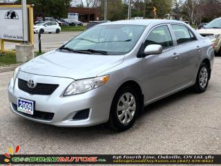 Used 2009 Toyota Corolla CE LOW KM NO ACCIDENT REMOTE STARTER CERTIFIED for sale in Oakville, ON