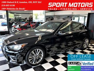 Used 2018 Infiniti Q50 2.0t LUXE+AWD+Camera+Sunroof+Leather+ACCIDENT FREE for sale in London, ON