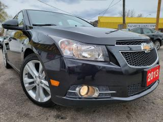 Used 2013 Chevrolet Cruze LT Turbo/LEATHER/CAMERA/B.TOOTH/TOUCHSCREEN/ALLOYS for sale in Scarborough, ON