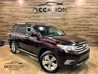 Used 2013 Toyota Highlander 4 RM, Limited 7 places gps cuir for sale in Ste-Brigitte-de-Laval, QC