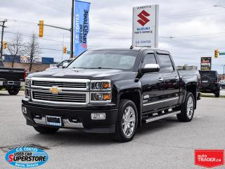 Used 2014 Chevrolet Silverado 1500 High Country Crew Cab 4x4 ~6.2L V8 ~Leather ~Nav for sale in Barrie, ON