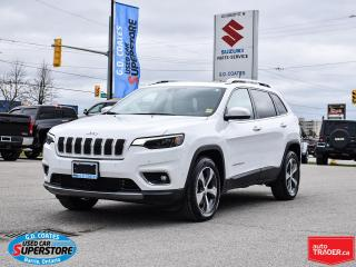 Used 2019 Jeep Cherokee Limited 4x4 ~3.2 V6 ~Nav ~Cam ~Leather ~Pano Roof for sale in Barrie, ON