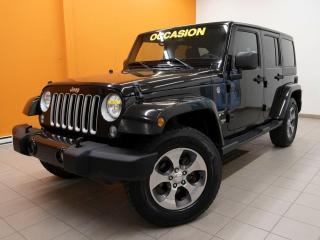 Used 2018 Jeep Wrangler SAHARA 4X4 ÉCRAN NAV SIÈGES CHAUFFANTS *BAS KM* for sale in Mirabel, QC
