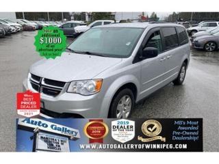 Used 2012 Dodge Grand Caravan SXT* 7 Seater/Satellite Radio/BLUETOOTH for sale in Winnipeg, MB