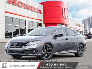 New 2021 Honda Civic Sport APPLE CARPLAY™ & ANDROID AUTO™ | POWER SUNROOF | LANEWATCH™ CAMERA for sale in Cambridge, ON