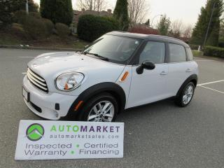 Used 2012 MINI Cooper Countryman AUTO, LEATHER, FINANCING, INSPECTED, FREE WARRANTY & BCAA MEMBERSHIP! for sale in Surrey, BC