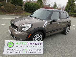 Used 2011 MINI Cooper Countryman S, ALL4, PREMIUM, FINANCING, INSPECTED, FREE WARRANTY & BCAA MEMBERSHIP for sale in Surrey, BC