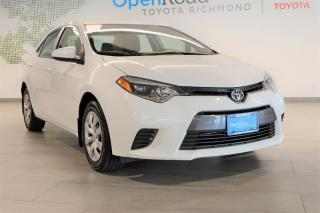 Used 2016 Toyota Corolla 4-door Sedan LE CVTi-S for sale in Richmond, BC