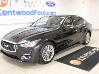 Used 2018 Infiniti Q50 3.0t Luxe | Heated Leather | Nav | Sunroof | One Owner for sale in Edmonton, AB