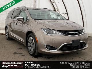 Used 2018 Chrysler Pacifica Hybrid Limited NAVIGATION, TRI-PANE PANORAMIC SUNROOF, SEAT BACK DVD'S for sale in Ottawa, ON
