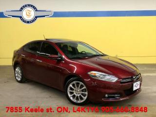 Used 2015 Dodge Dart Limited Navi, Sunroof, Leather, B Cam, Blind Spot for sale in Vaughan, ON