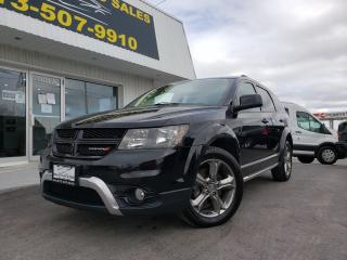 Used 2017 Dodge Journey Crossroad Perfect Family Vehicle!! 7 Passenger!! DVD!! NAV!! for sale in Kingston, ON
