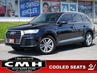 Used 2017 Audi Q7 3.0T quattro Technik  NAV CAM ROOF LEATH 20-AL for sale in St. Catharines, ON