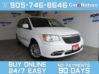 Used 2016 Chrysler Town & Country TOURING-L | LEATHER | PWR SLIDING DOORS & TAILGATE for sale in Brantford, ON