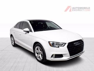 Used 2017 Audi A3 Komfort Quattro Cuir Toit Sièges Chauffants for sale in Île-Perrot, QC
