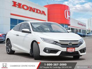 Used 2018 Honda Civic Touring APPLE CARPLAY™ & ANDROID AUTO™ | POWER SUNROOF | GPS NAVIGATION for sale in Cambridge, ON