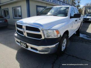 Used 2016 Dodge Ram 1500 GREAT VALUE TRADESMEN EDITION 6 PASSENGER 3.6L - V6.. 4X4.. CREW-CAB.. SHORTY.. TRAILER BRAKE.. HEATED SEATS.. BLUETOOTH SYSTEM.. KEYLESS ENTRY.. for sale in Bradford, ON