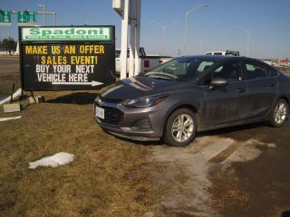 Used 2019 Chevrolet Cruze LT for sale in Thunder Bay, ON