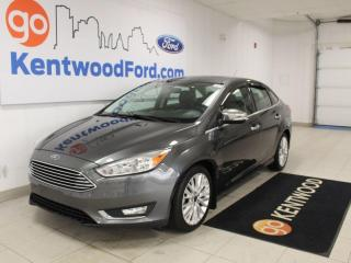 Used 2016 Ford Focus Titanium | NAV | Moonroof | Leather | LOW KMs | Heated Seats/Steering for sale in Edmonton, AB