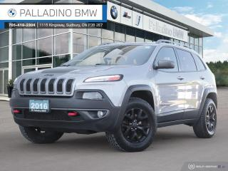 Used 2016 Jeep Cherokee Trailhawk 4WD, V6, Remote Engine Start, Navigation, Cold Weather Package for sale in Sudbury, ON