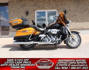 Used 2015 Harley-Davidson FLHTKSE CVO Ultra Limited 110SE, LOADED & FLAWLESS LOCAL TRADE, ONLY $160B/W for sale in Headingley, MB