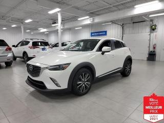 Used 2016 Mazda CX-3 GT AWD - CUIR + CAMERA + JAMAIS ACCIDENTE !!! for sale in Saint-Eustache, QC