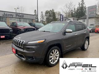 Used 2017 Jeep Cherokee LIMITED l 4X4 l LEATHER l NAV l PANO ROOF for sale in New Hamburg, ON