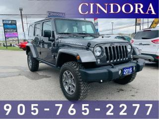 Used 2016 Jeep Wrangler Unlimited Rubicon, Auto, Nav, Leather for sale in Caledonia, ON