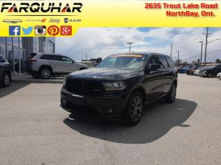 Used 2017 Dodge Durango Crew - Hemi V8 - Leather Seats - $269 B/W for sale in North Bay, ON