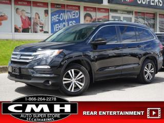 Used 2017 Honda Pilot EX-L  DVD LANE-DEP ROOF LEATH HTD-S/W 18-AL for sale in St. Catharines, ON